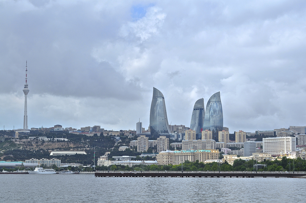 Fairmont Baku from the harbour side