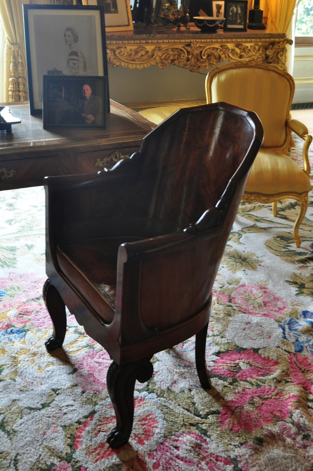 Replica of Napoleon's Chair by Sue Lowry