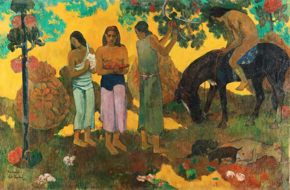 Paul Gauguin Rupe Rupe, 1899 Fruit gathering Oil on canvas, Moscow, The Pushkin State Museum of Fine Arts