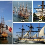 Hermione sets sail The Americas for the first time since 1780