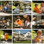 Terrace Time at Emlyn Restaurant, At the Foot of Box Hill, Dorking