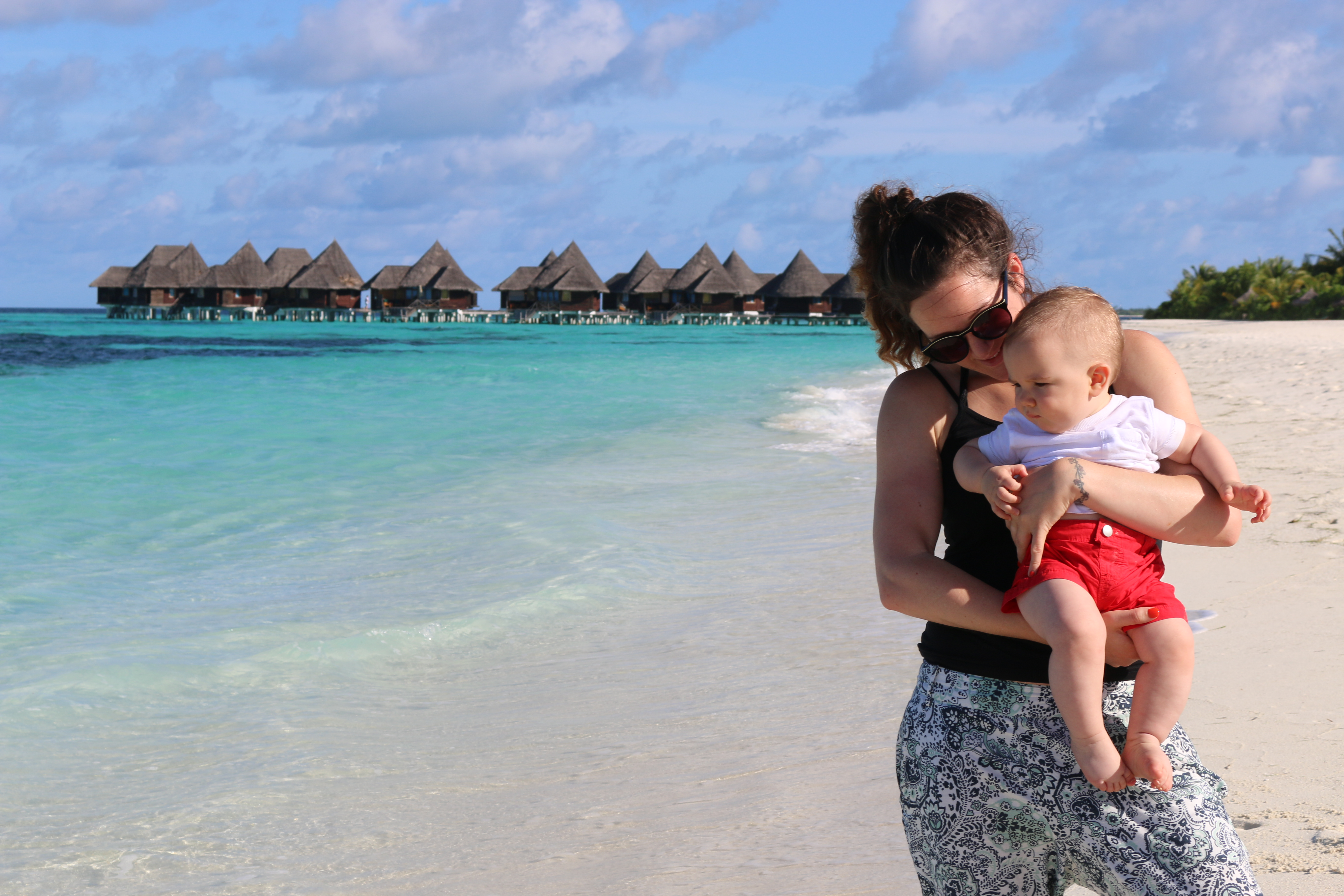 Monica Stott The Travel Hack in the Maldives with baby George aged 6 months