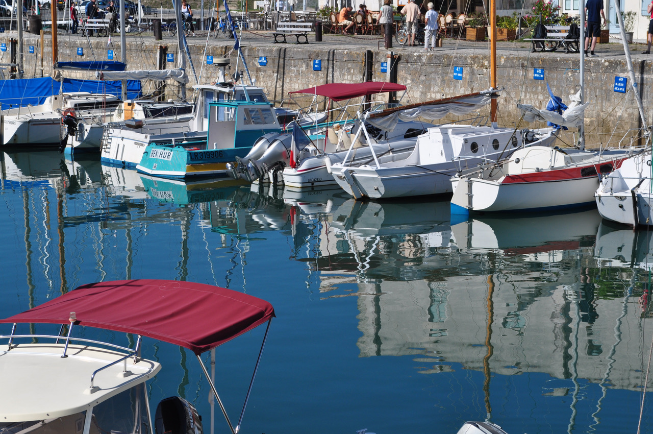 Harbour of Saint-Martin-de-Ré, Ile de Ré, Charentes area of Southwestern France by Sue Lowry